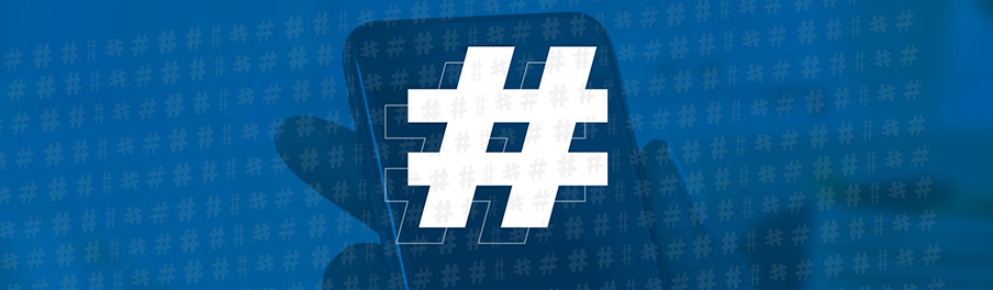 abstract representation of hashtags: the danger of over-doing it on social media